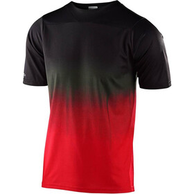 Troy Lee Designs Skyline Kurzarm Trikot stain'd black/red